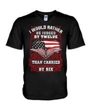 Judged By Twelve V-Neck T-Shirt thumbnail