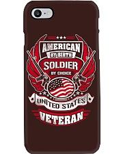 Veteran American By Birth Phone Case thumbnail