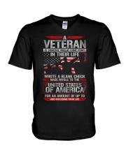 Wrote Blank Check V-Neck T-Shirt thumbnail