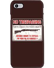 No Trespassing Phone Case thumbnail