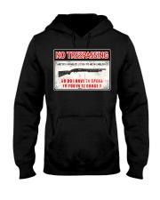 No Trespassing Hooded Sweatshirt thumbnail