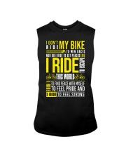 I Don't Ride My Bike Sleeveless Tee thumbnail