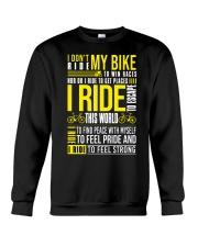 I Don't Ride My Bike Crewneck Sweatshirt thumbnail