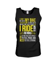 I Don't Ride My Bike Unisex Tank thumbnail