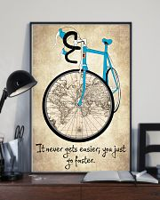 It Never Gets Easier - You Just Go Faster 16x24 Poster lifestyle-poster-2