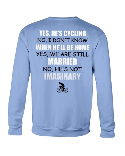 YES - HE'S CYCLING