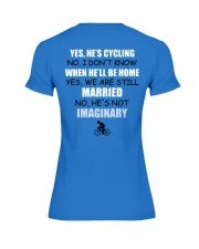 YES - HE'S CYCLING Premium Fit Ladies Tee thumbnail