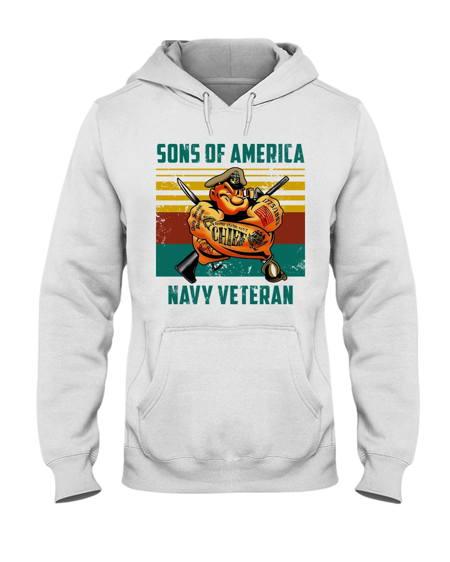 Navy Veteran Hooded Sweatshirt