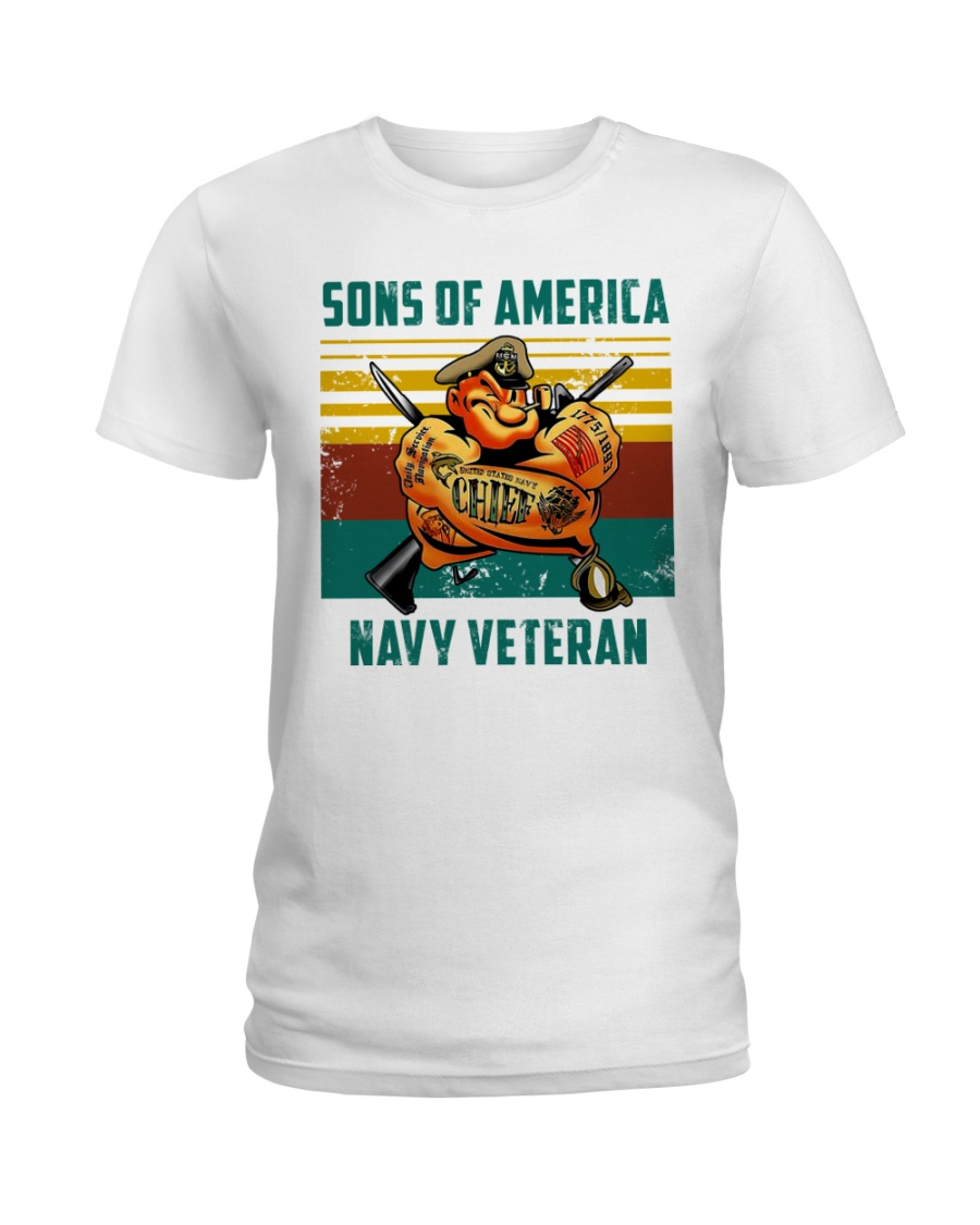 Navy Veteran Ladies T-Shirt