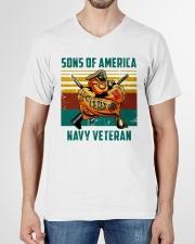 Navy Veteran V-Neck T-Shirt garment-vneck-tshirt-front-01