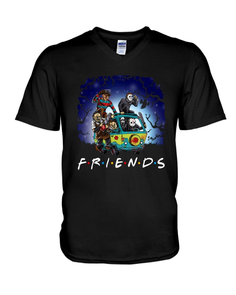 Friends Halloween V-Neck T-Shirt