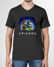 Friends Halloween V-Neck T-Shirt garment-vneck-tshirt-front-01