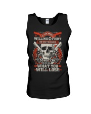Willing to Fight Unisex Tank thumbnail