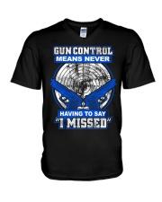 Gun Control V-Neck T-Shirt thumbnail
