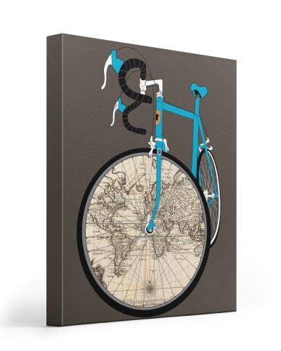 World Map Bike