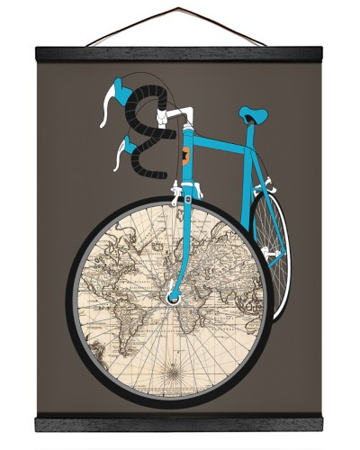 World Map Bike