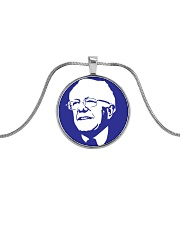 Bernie Sanders Circle Portrait Metallic Circle Necklace thumbnail