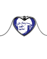 Bernie Sanders Circle Portrait Metallic Heart Necklace thumbnail