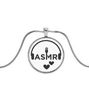 Love ASMR  Metallic Circle Necklace front