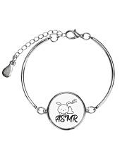 ASMR makes me sleep Metallic Circle Bracelet thumbnail