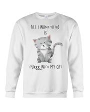 Funny cat shirt Crewneck Sweatshirt thumbnail