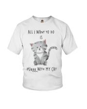 Funny cat shirt Youth T-Shirt thumbnail