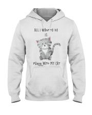 Funny cat shirt Hooded Sweatshirt thumbnail