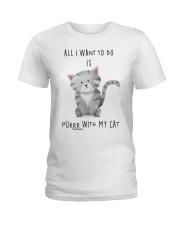 Funny cat shirt Ladies T-Shirt thumbnail