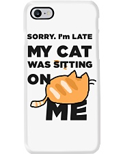 My cat was sitting on me Phone Case thumbnail