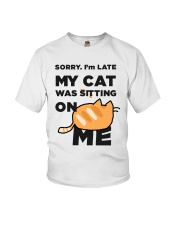 My cat was sitting on me Youth T-Shirt thumbnail