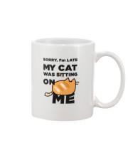 My cat was sitting on me Mug thumbnail