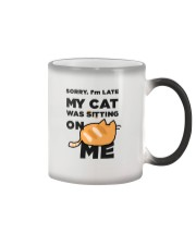 My cat was sitting on me Color Changing Mug thumbnail
