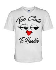 too cute to handle  V-Neck T-Shirt thumbnail