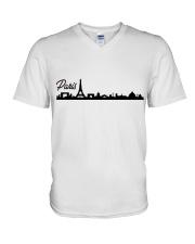 Paris  V-Neck T-Shirt thumbnail