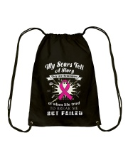 MY SCARS TELL A STORY Drawstring Bag tile