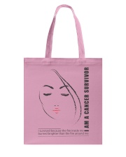 I AM CANCER SURVIVOR Tote Bag thumbnail