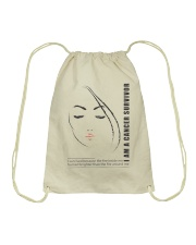 I AM CANCER SURVIVOR Drawstring Bag thumbnail
