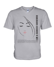 I AM CANCER SURVIVOR V-Neck T-Shirt thumbnail