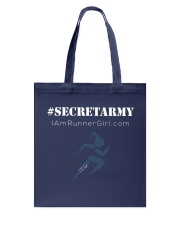 The Runner Girl Accessories Dark Tote Bag front