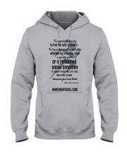 Redeemed Social Condition Logo Front Hooded Sweatshirt front