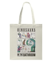 Taking Bath Dinosaurs Tote Bag thumbnail