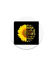 Be A Sunflower Circle Magnet tile