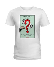 Monopoly Game TAKE THE RISK Ladies T-Shirt tile