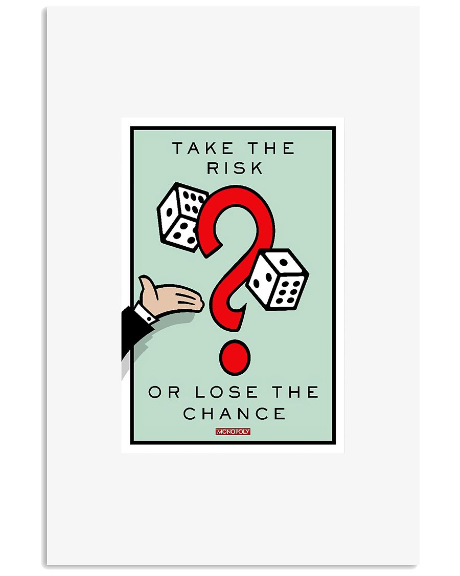 Monopoly Game TAKE THE RISK 11x17 Poster