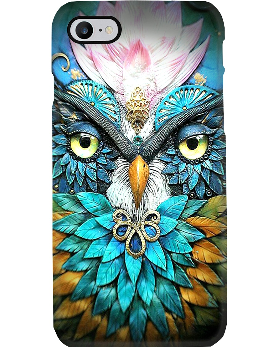 Teal Owl Phone Case
