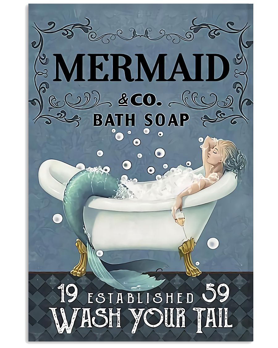 Mermaid Co Bath Soap 11x17 Poster
