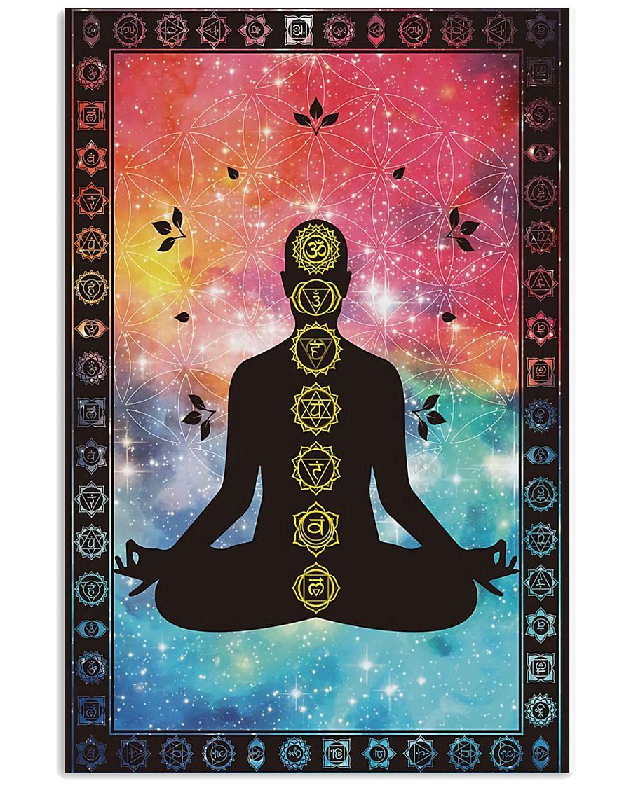 Seven Chakra Yoga Meditation 16x24 Poster