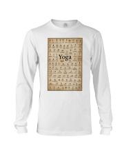 Iyengar yoga asanas Long Sleeve Tee thumbnail