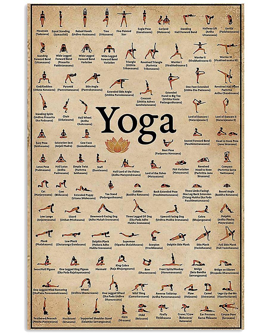 Iyengar yoga asanas 11x17 Poster