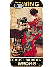 Sewing Because Murder Is Wrong Phone Case tile